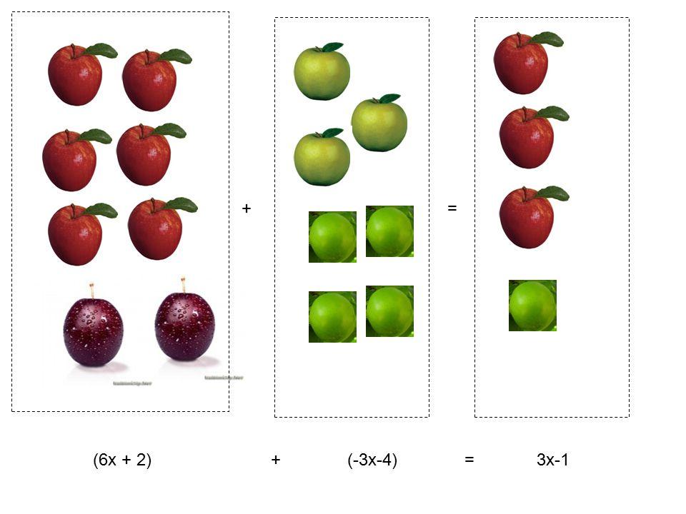 += (6x + 2) + (-3x-4) = 3x-1