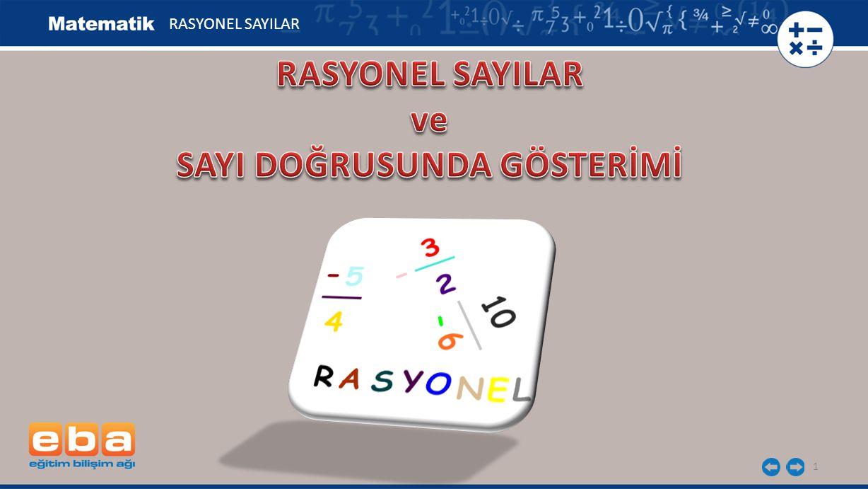 1 RASYONEL SAYILAR