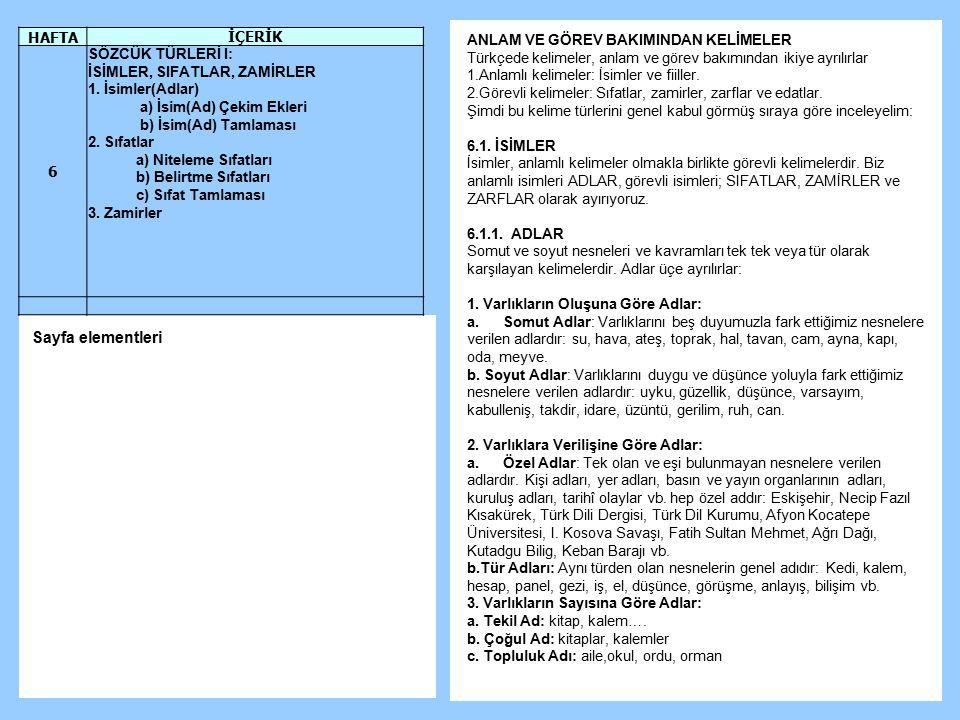 ANLAM VE GÖREV BAKIMINDAN KELİMELER Türkçede kelimeler, anlam ve görev bakımından ikiye ayrılırlar 1.Anlamlı kelimeler: İsimler ve fiiller. 2.Görevli