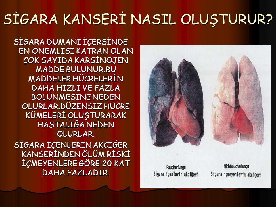 SİGARA KANSERİ NASIL OLUŞTURUR.