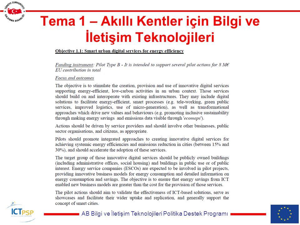 AB Bilgi ve İletişim Teknolojileri Politika Destek Programı Tema 3 - Sağlık, Yaşlanma ve İçerme için Bilgi ve İletişim Teknolojileri