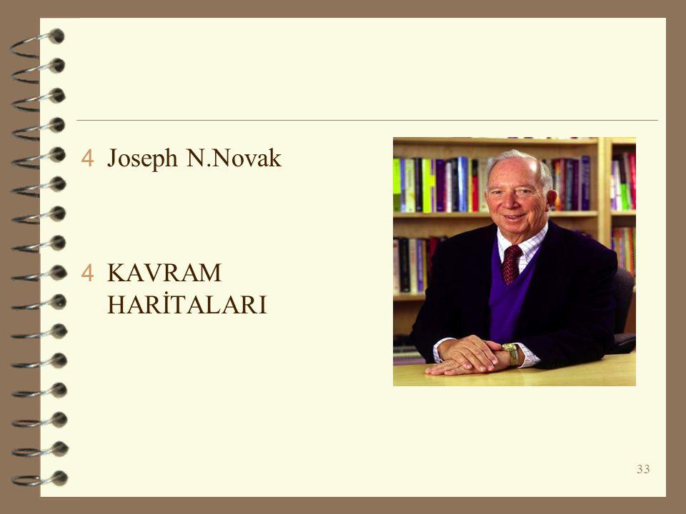 33 4 Joseph N.Novak 4 KAVRAM HARİTALARI