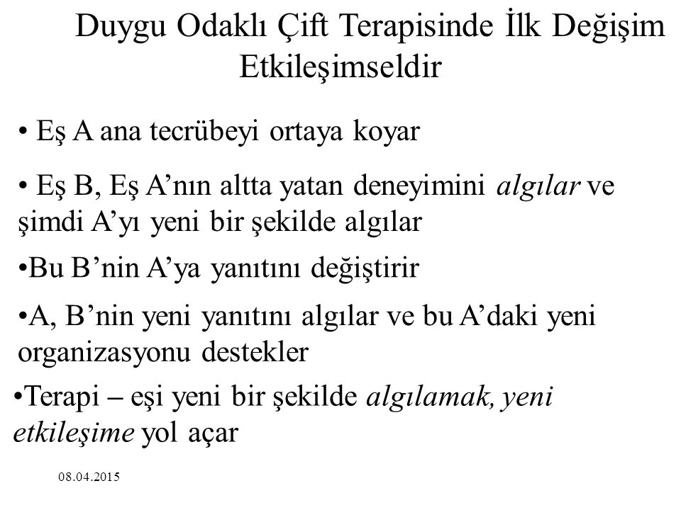 DUYGU ODAKLI TERAPİDE TEMEL MÜDAHALELER 1.