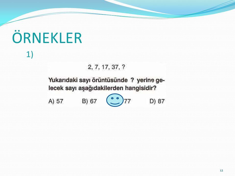 ÖRNEKLER 1) 12