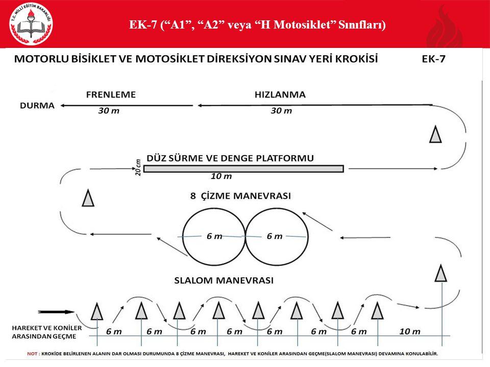 EK-7 ( A1 , A2 veya H Motosiklet Sınıfları) 88