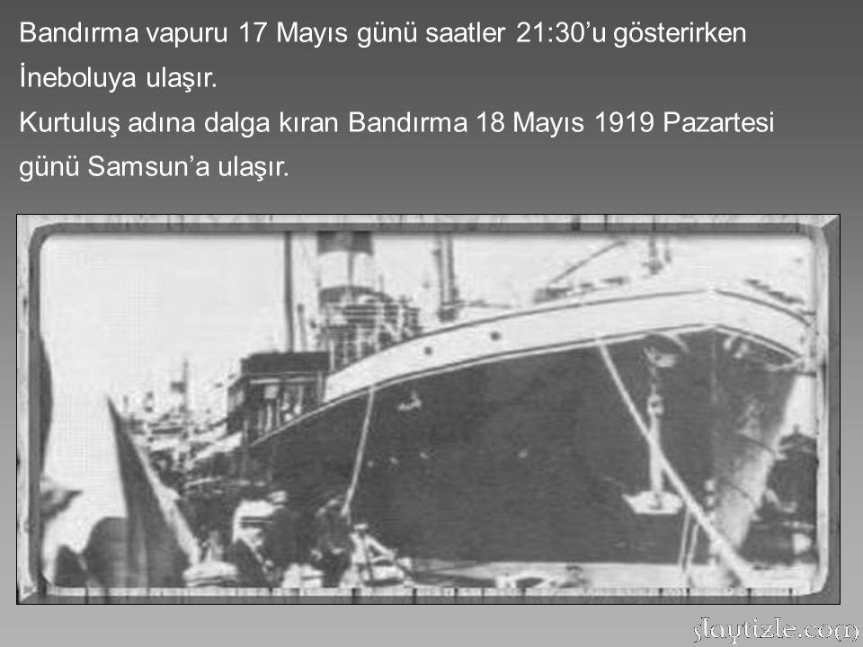 Mustafa Kemal, üç günlük yolculuk süresince uyuyamadı. Bir memleketi kurtarmak için atılacak dev bir adımdı ve bu işin başarısızlığı bir milletin yok