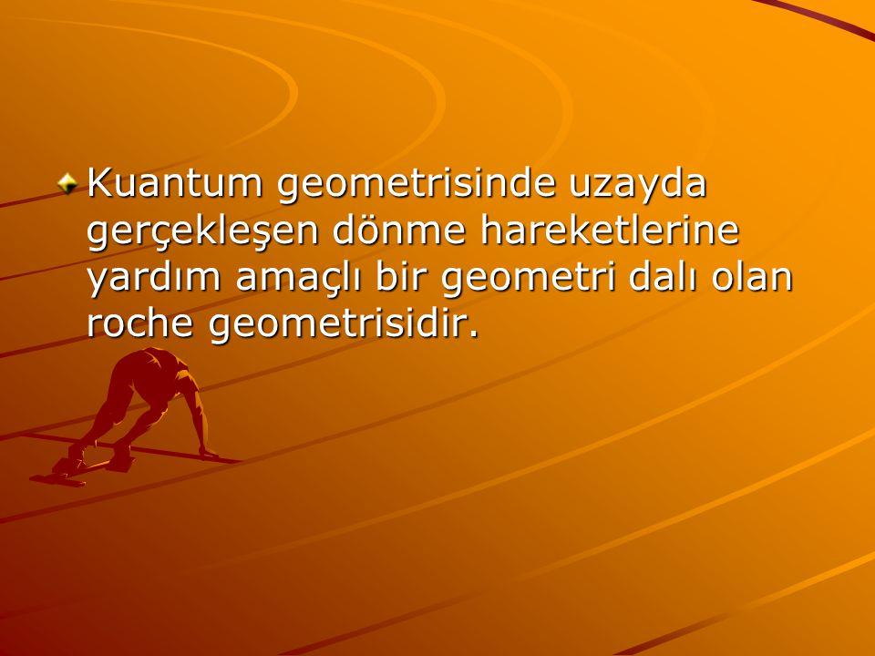 Kuantum geometrisinde uzayda gerçekleşen dönme hareketlerine yardım amaçlı bir geometri dalı olan roche geometrisidir.