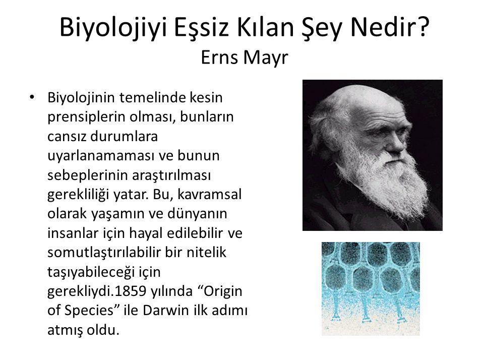 Biyolojiyi Eşsiz Kılan Şey Nedir.
