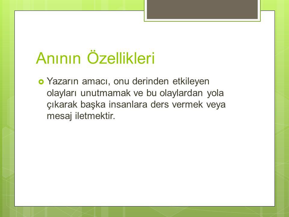 Türk Edebiyatında Anı Ne Zaman Doğdu? YAZI ANILAR