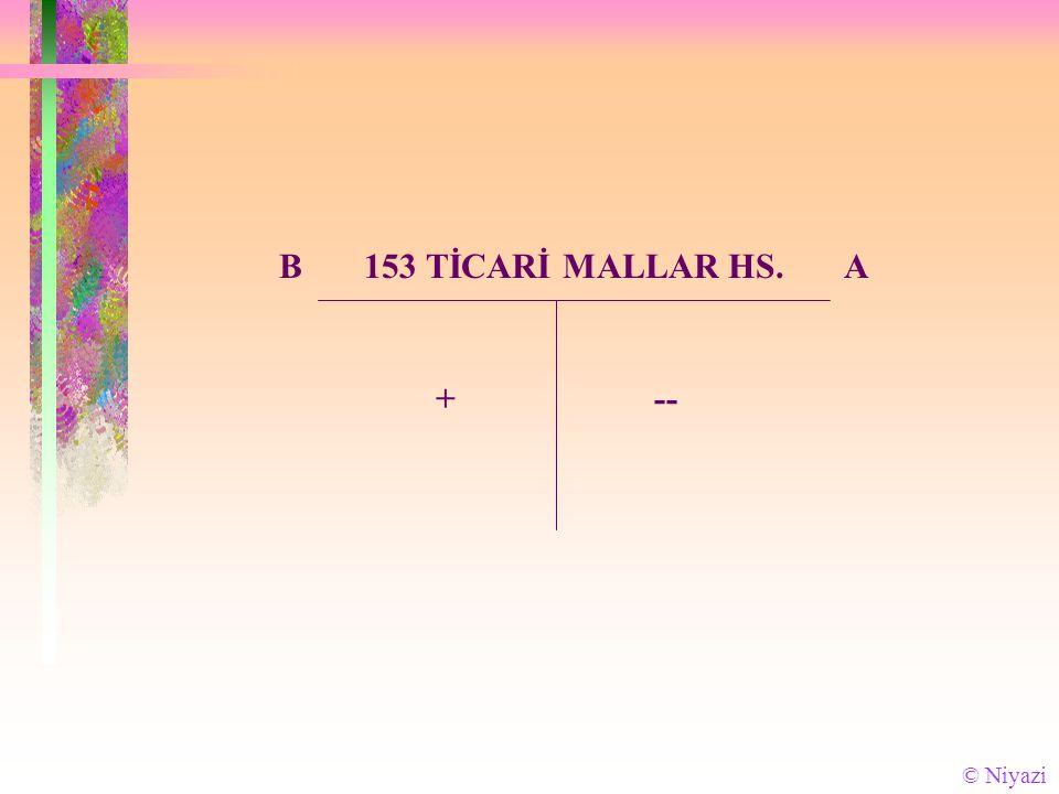 B 153 TİCARİ MALLAR HS. A +-- © Niyazi
