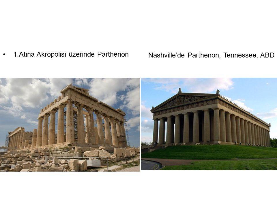 1.Atina Akropolisi üzerinde Parthenon Nashville'de Parthenon, Tennessee, ABD