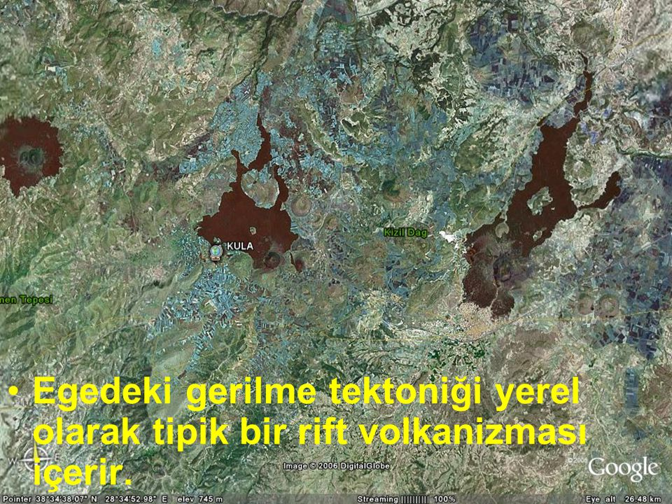 NEOTEKTONİK Doç.Dr. Yaşar EREN Egedeki gerilme tektoniği yerel olarak tipik bir rift volkanizması içerir.