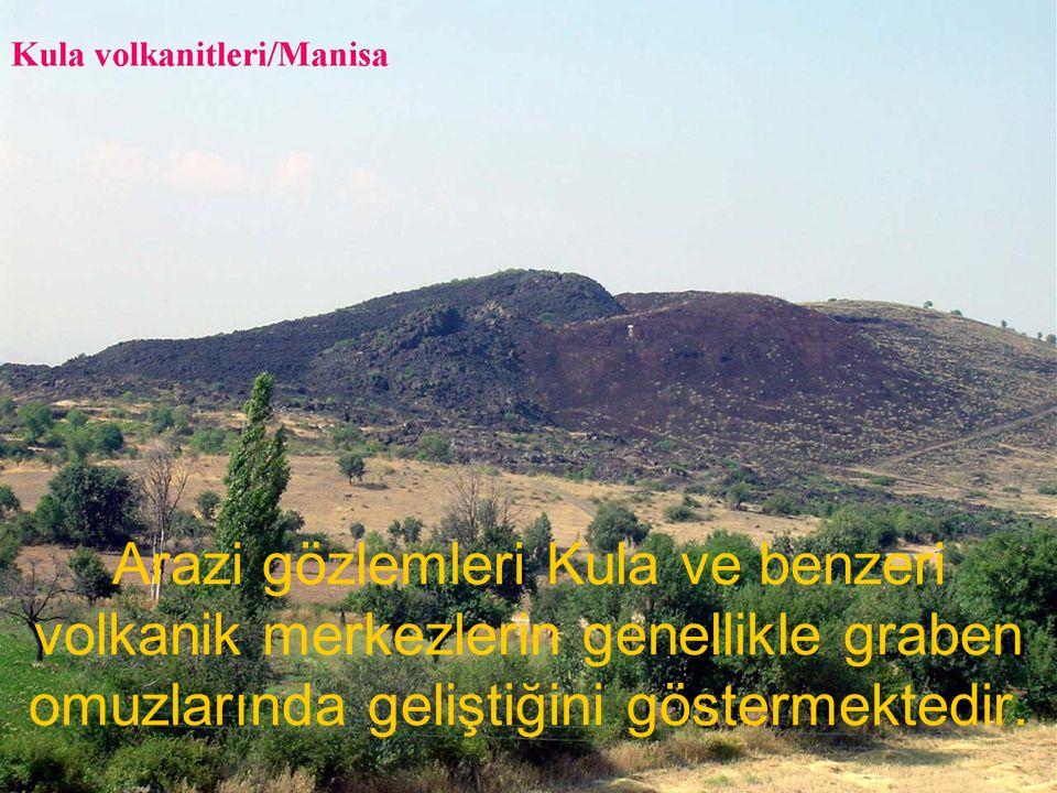 NEOTEKTONİK Doç.Dr. Yaşar EREN Arazi gözlemleri Kula ve benzeri volkanik merkezlerin genellikle graben omuzlarında geliştiğini göstermektedir.