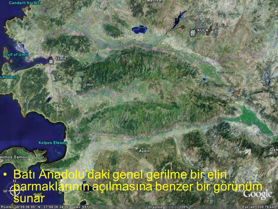 NEOTEKTONİK Doç.Dr. Yaşar EREN Batı Anadolu'daki genel gerilme bir elin parmaklarının açılmasına benzer bir görünüm sunar