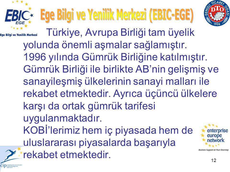 12 Türkiye, Avrupa Birliği tam üyelik yolunda önemli aşmalar sağlamıştır.