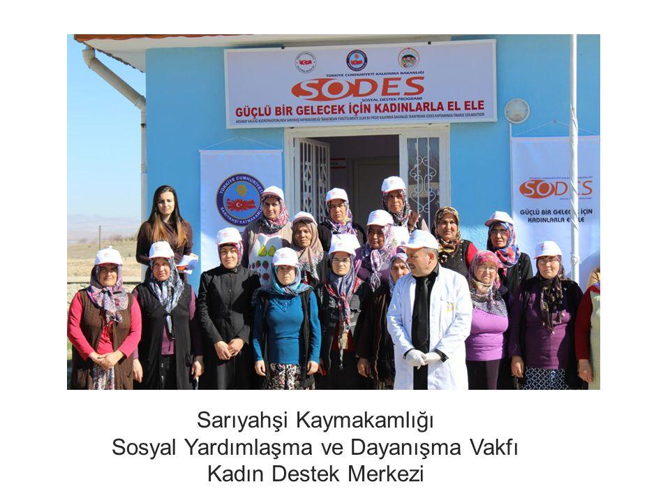 Sarıyahşi Kaymakamlığı Sosyal Yardımlaşma ve Dayanışma Vakfı Kadın Destek Merkezi