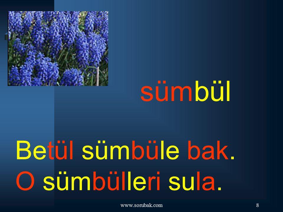 www.sorubak.com28 dümen Tuna dümeni tut. Sakın onu bırakma.