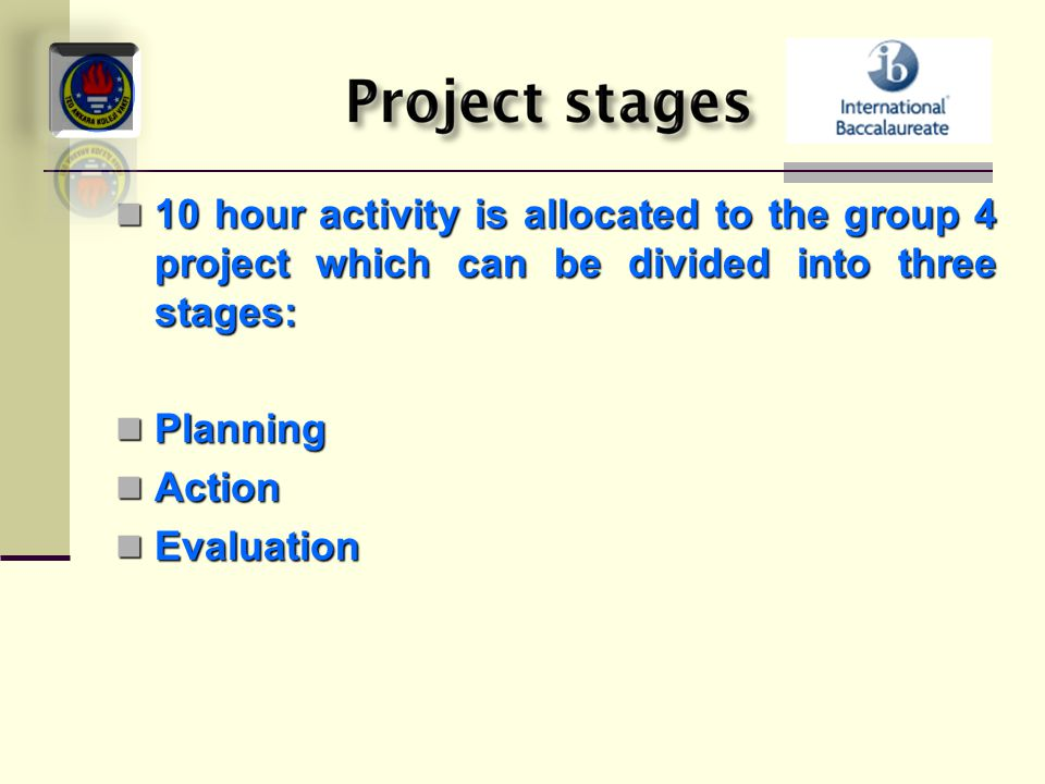 10 hour activity is allocated to the group 4 project which can be divided into three stages: 10 hour activity is allocated to the group 4 project whic