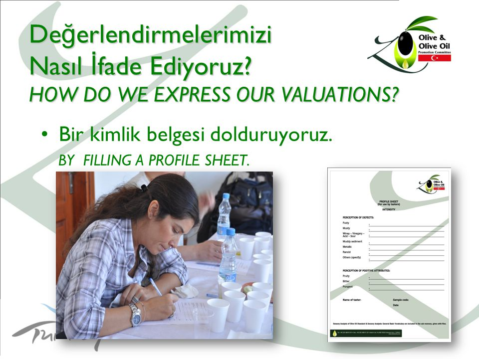 15 De ğ erlendirmelerimizi Nasıl İ fade Ediyoruz. HOW DO WE EXPRESS OUR VALUATIONS.