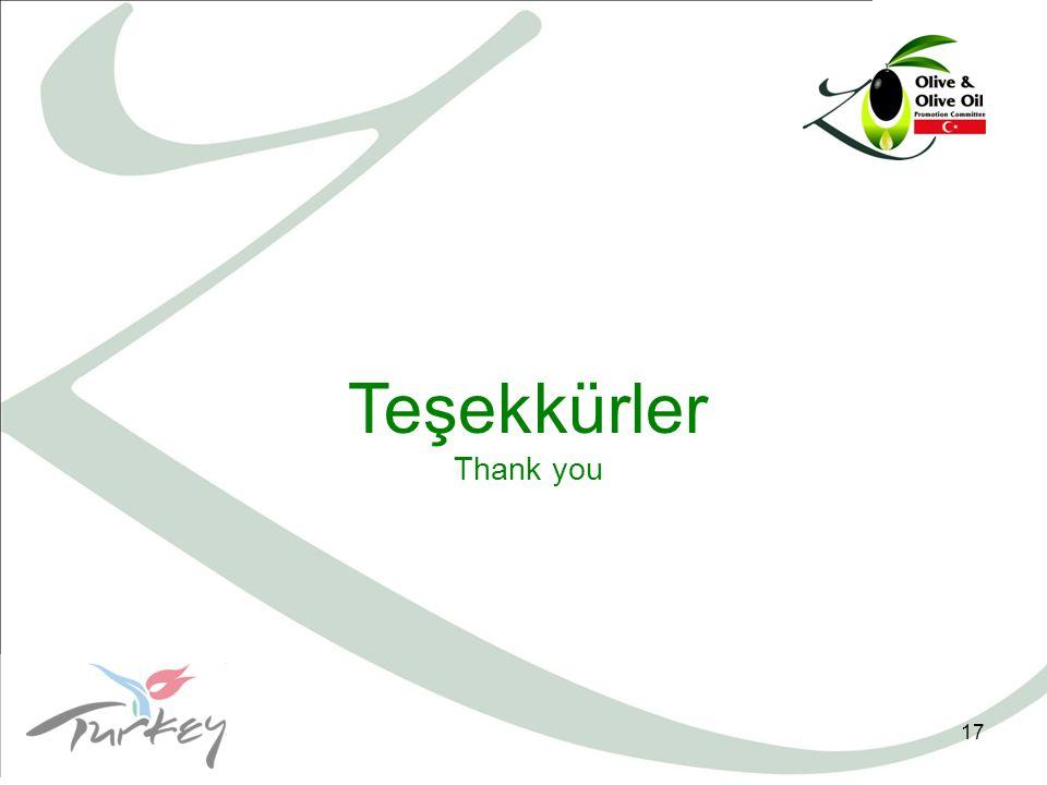 17 Teşekkürler Thank you