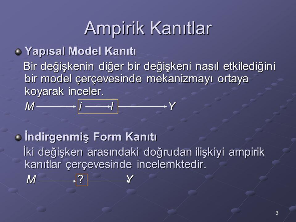 3 Ampirik Kanıtlar Yapısal Model Kanıtı Bir değişkenin diğer bir değişkeni nasıl etkilediğini bir model çerçevesinde mekanizmayı ortaya koyarak inceler.