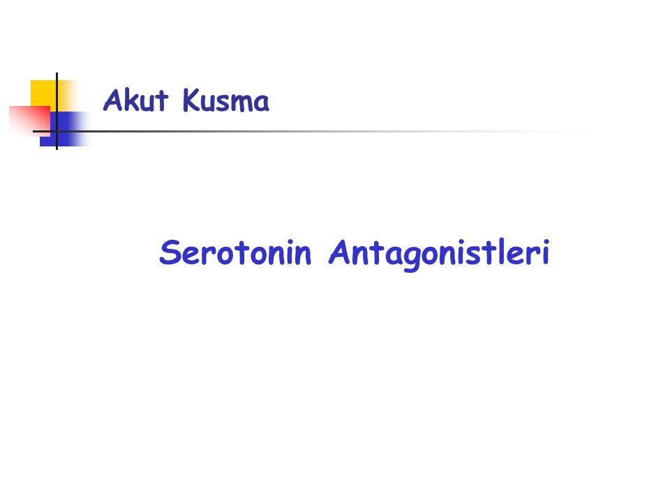 Serotonin Antagonistleri Akut Kusma