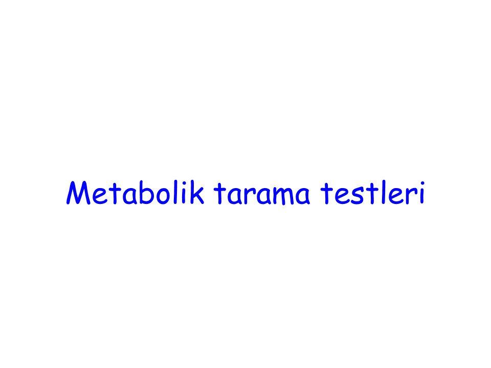 Metabolik tarama testleri