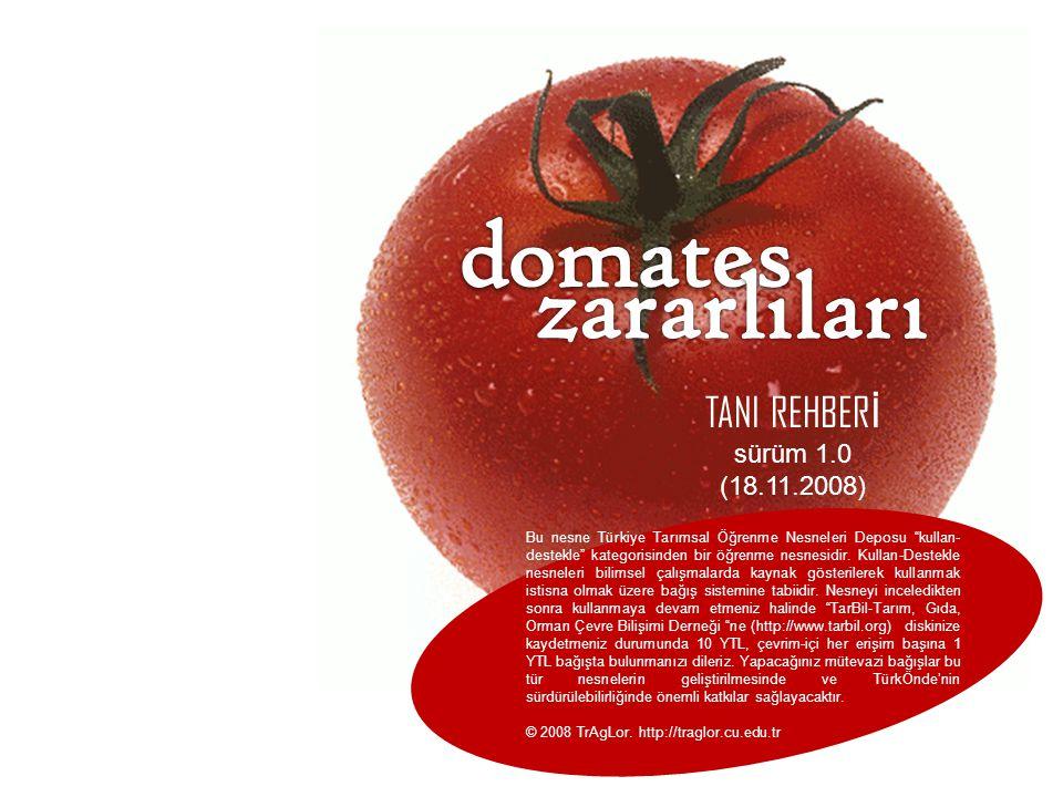 """TANI REHBER İ sürüm 1.0 (18.11.2008) Bu nesne Türkiye Tarımsal Öğrenme Nesneleri Deposu """"kullan- destekle"""" kategorisinden bir öğrenme nesnesidir. Kull"""