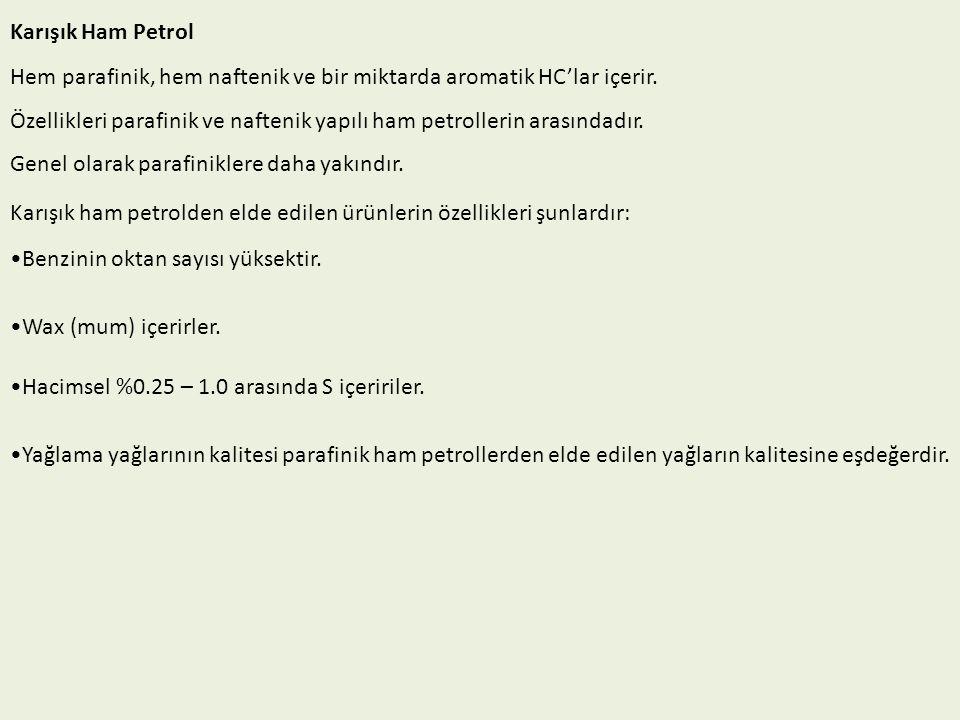 Ham Petrolden Yakıt ve Petrol Türevi Ürünlerin Eldesi Ham petrolün damıtılması.