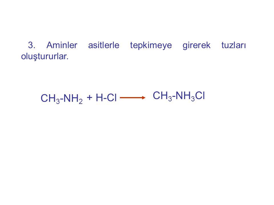 AMİTLER NH 2 O H - C Karboksilik asitlerin, karboksil grubundaki –OH yerine -NH 2 grubunun geçmesiyle oluşan bileşiklere AMİT denir.