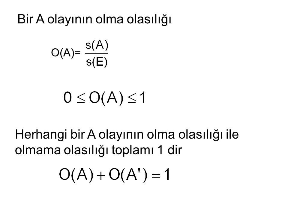 7.sınıf AYRIK OLAYLAR A ve B gibi iki olay aynı anda gerçekleşmiyorsa A ve B ayrık olaylar denir.