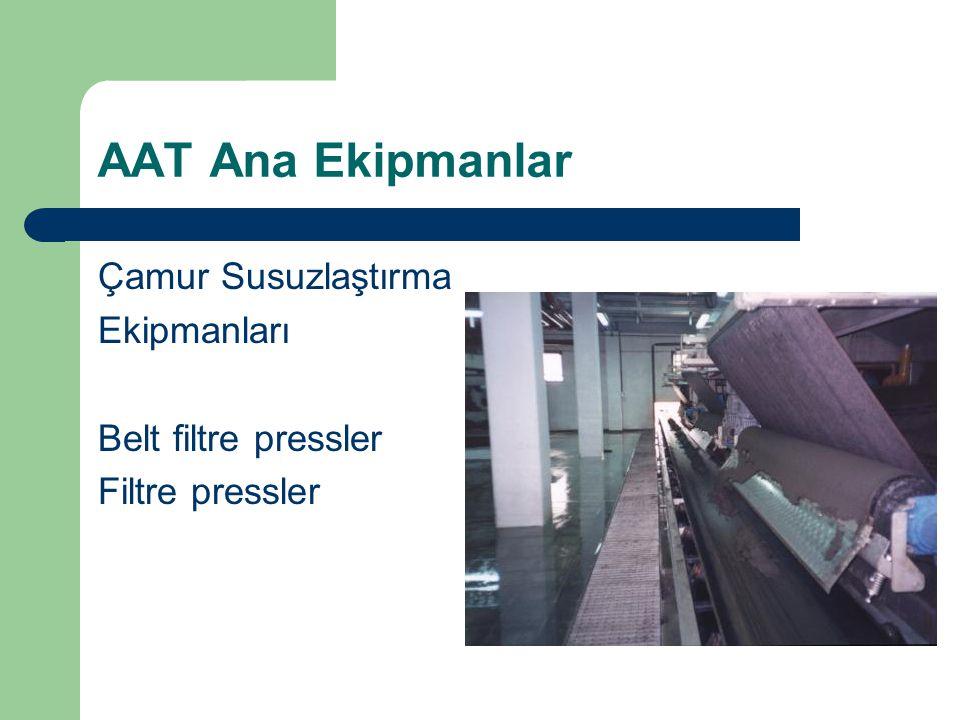 AAT Ana Ekipmanlar Çamur Susuzlaştırma Ekipmanları Belt filtre pressler Filtre pressler