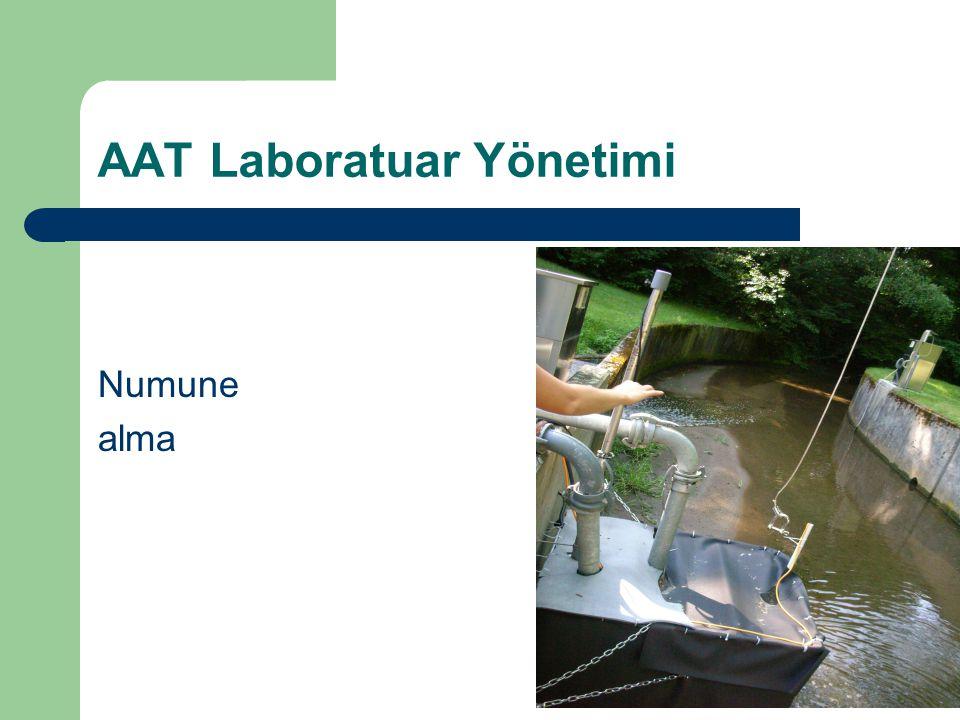 AAT Laboratuar Yönetimi Numune alma
