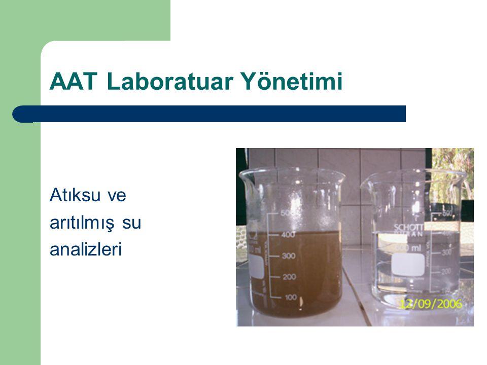 AAT Laboratuar Yönetimi Atıksu ve arıtılmış su analizleri