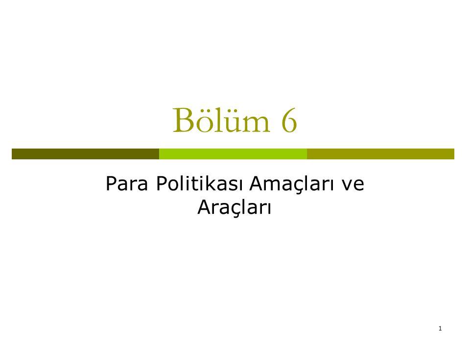 1 Bölüm 6 Para Politikası Amaçları ve Araçları