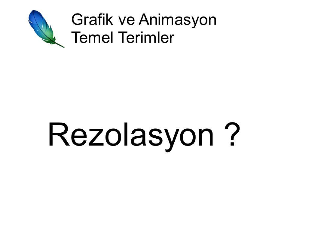Grafik ve Animasyon Temel Terimler Rezolasyon ?