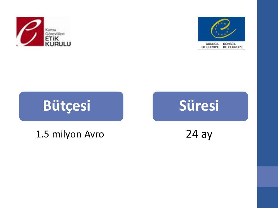 Bütçesi 1.5 milyon Avro Süresi 24 ay