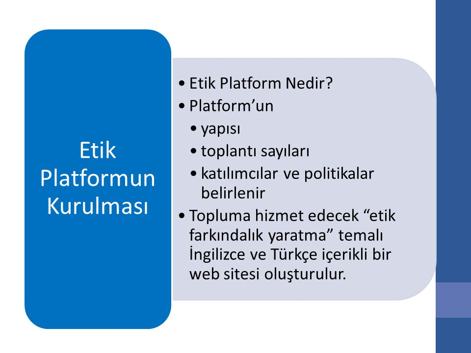 Etik Platform Nedir.