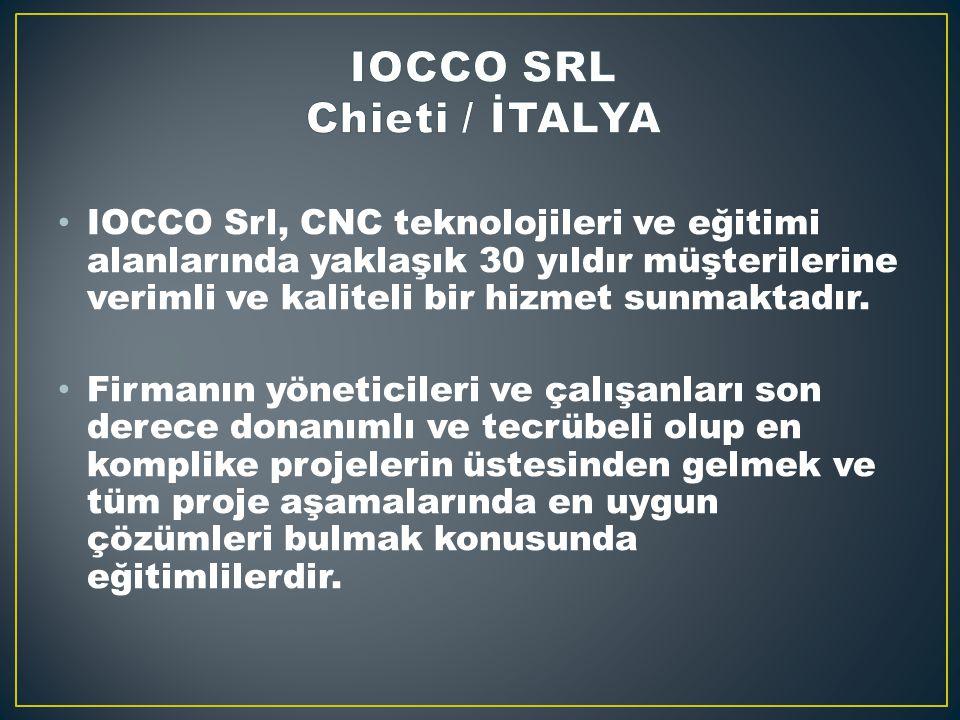 IOCCO Srl, CNC teknolojileri ve eğitimi alanlarında yaklaşık 30 yıldır müşterilerine verimli ve kaliteli bir hizmet sunmaktadır.