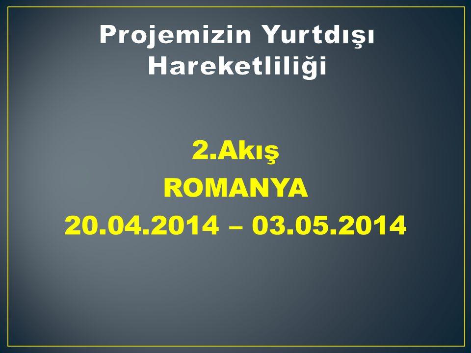 2.Akış ROMANYA 20.04.2014 – 03.05.2014