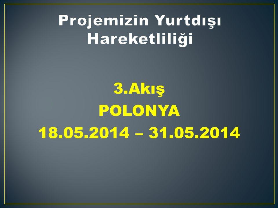 3.Akış POLONYA 18.05.2014 – 31.05.2014