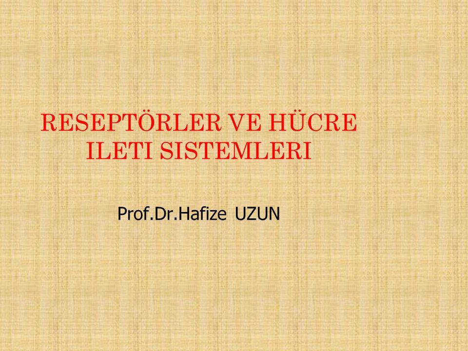 RESEPTÖRLER VE HÜCRE ILETI SISTEMLERI Prof.Dr.Hafize UZUN