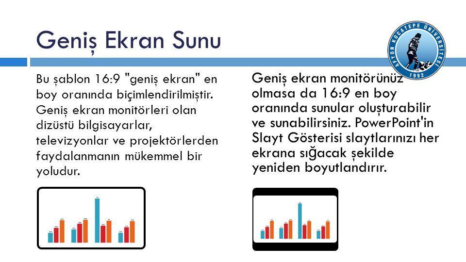 Geniş Ekran Sunu Bu şablon 16:9 geniş ekran en boy oranında biçimlendirilmiştir.