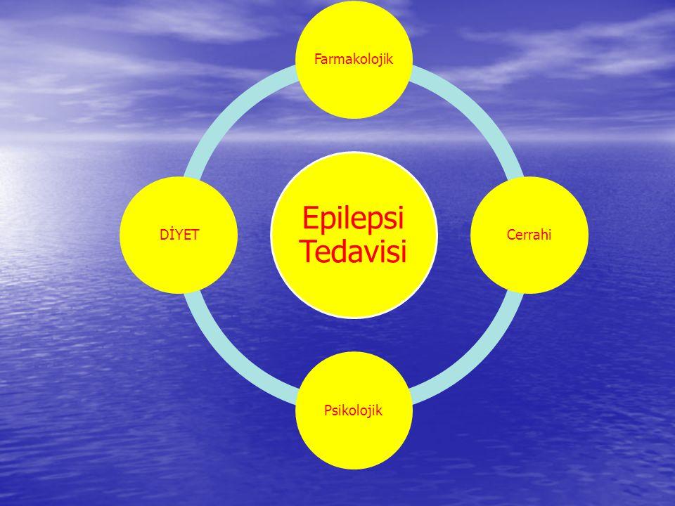 Epilepsi Tedavisi Farmakolojik Cerrahi Psikolojik DİYET DİYET