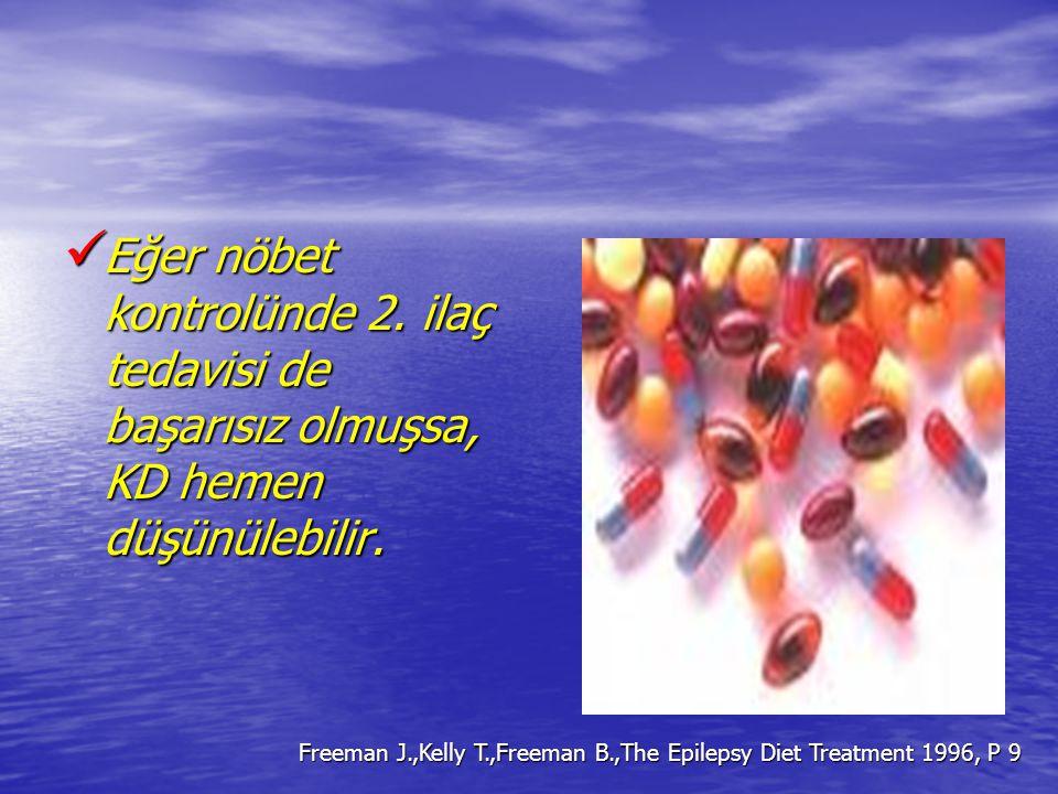 Eğer nöbet kontrolünde 2. ilaç tedavisi de başarısız olmuşsa, KD hemen düşünülebilir. Eğer nöbet kontrolünde 2. ilaç tedavisi de başarısız olmuşsa, KD