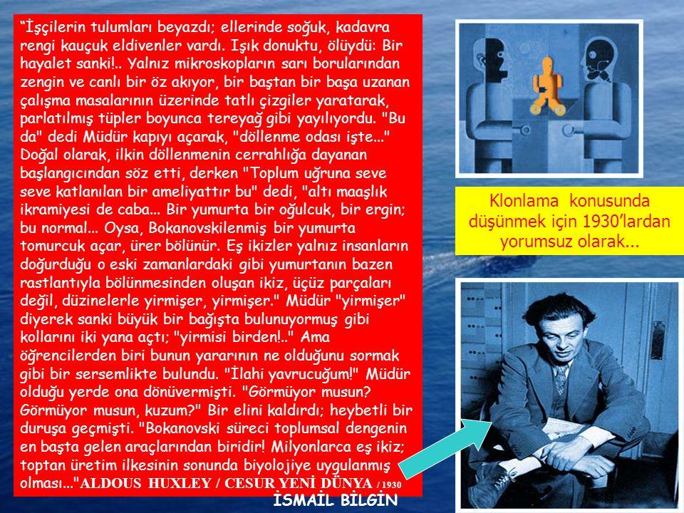 www.ismailbilgin.com İşçilerin tulumları beyazdı; ellerinde soğuk, kadavra rengi kauçuk eldivenler vardı.