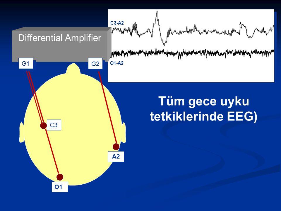 C3 O1 Tüm gece uyku tetkiklerinde EEG) G1G2 A2 Differential Amplifier C3-A2 O1-A2 G1 G2