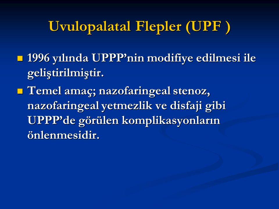 Uvulopalatal Flepler (UPF ) 1996 yılında UPPP'nin modifiye edilmesi ile geliştirilmiştir. 1996 yılında UPPP'nin modifiye edilmesi ile geliştirilmiştir