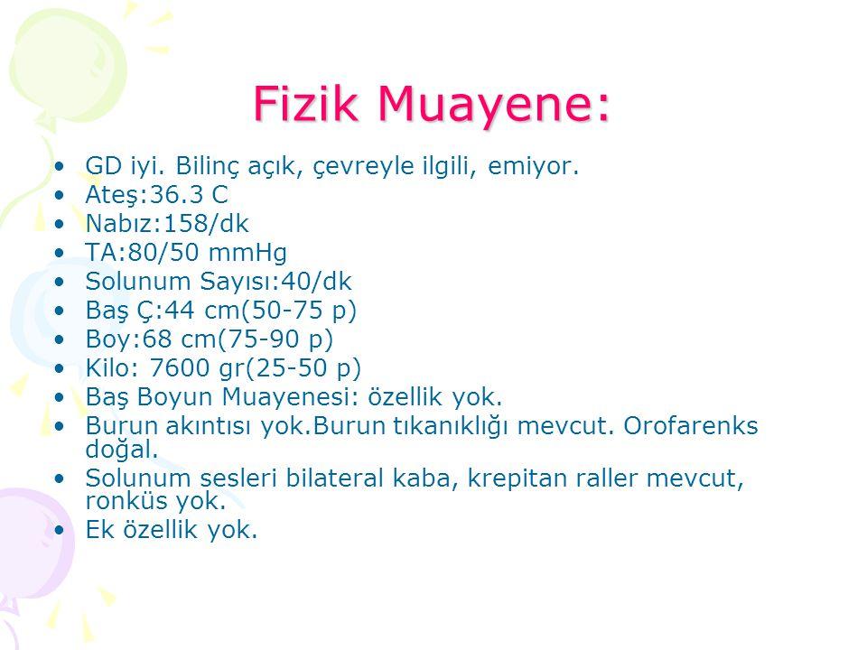 Hemogram: WBC: 11100 Neu: 4340 Lym:5630 Hb:10.4 Htc:30.9 Plt:699 000