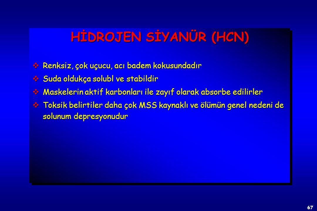66 SİSTEMİK ZEHİRLER v Hidrojen Siyanür v Hidrojen Sülfür SİSTEMİK ZEHİRLER v Hidrojen Siyanür v Hidrojen Sülfür